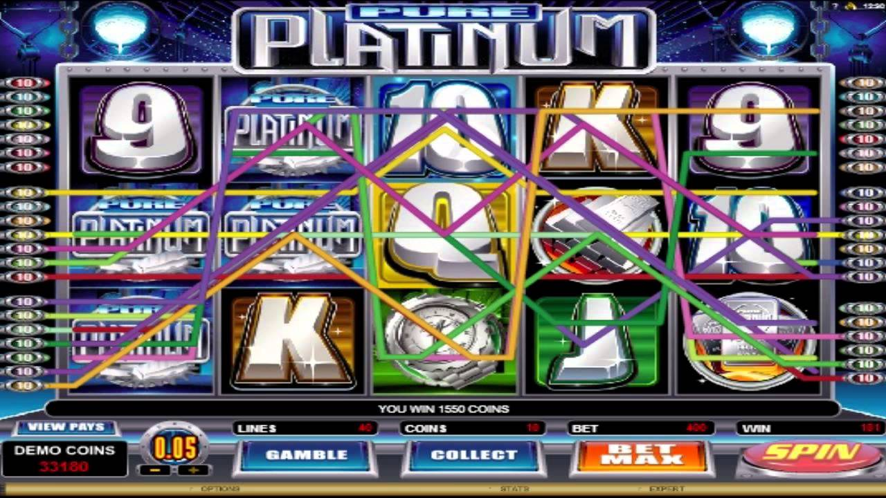 pure platinum slot game play